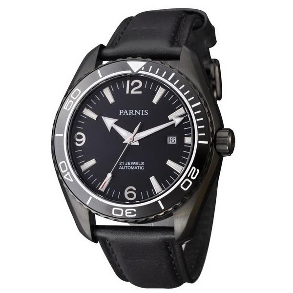 352cb23fc Parnis 45mm PVD Case Sapphire Glass Ceramic Bezel Ocean Planet style  Luminous Automatic Men's Watch